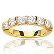 Alliance or jaune 750/1000e et diamant - Blanc (2 carats)
