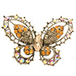 Broche fantaisie cristal - Orange