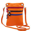 TL Bag - Sac bandoulière en cuir souple - Orange
