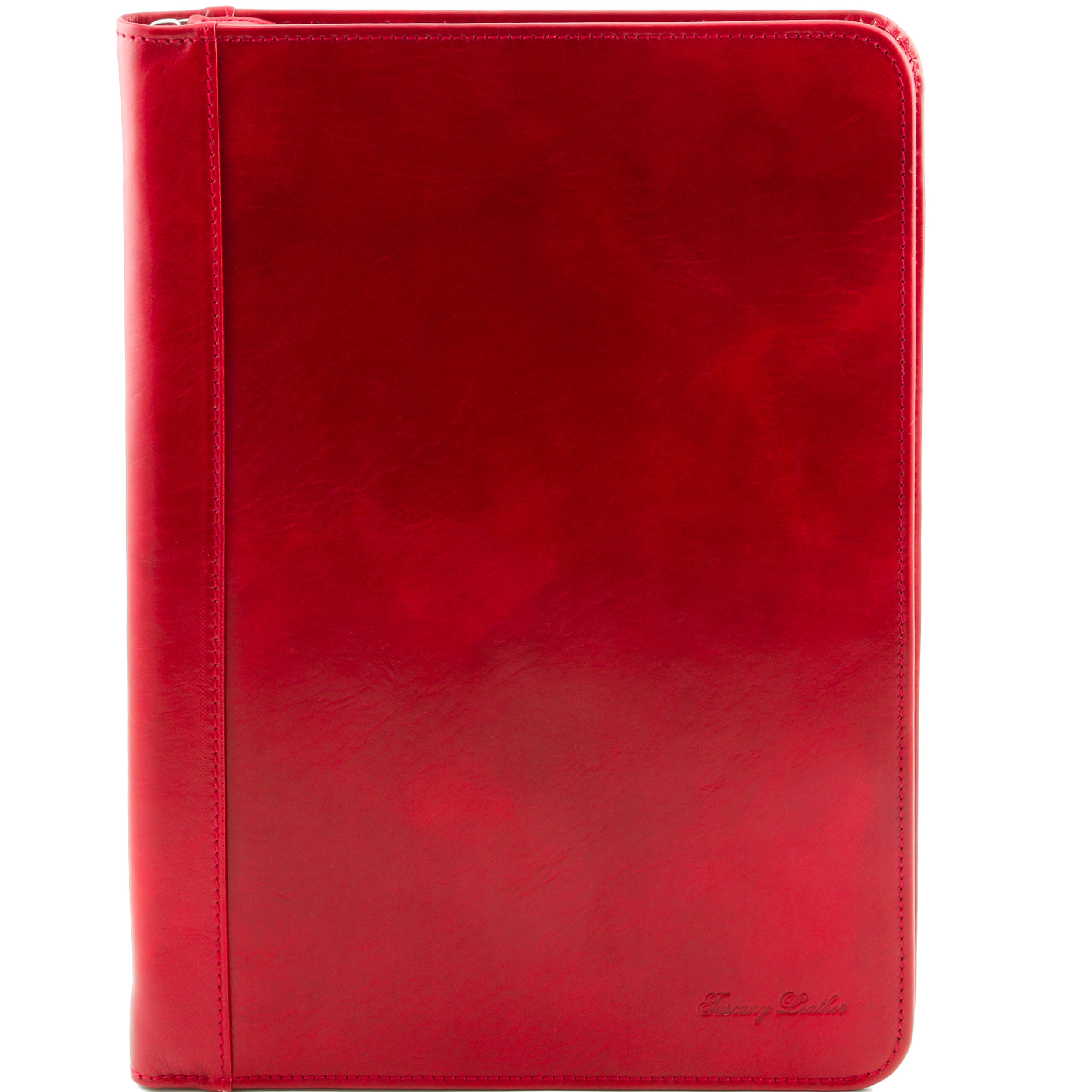 Porte-documents cuir - Rouge - Homme